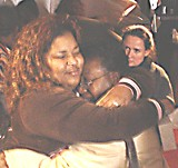 BEN POPPER - Sisters Gwen Holmes and Kevalenette Johnson Mars reunite in Memphis for the first time since Katrina.