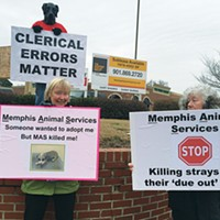 S.O.S. Memphis protests the shelter's mistake.