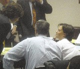 "JACKSON BAKER - Standing trial in Selmer this week for the murder of her minister husband is Mary Winkler, here conferring with attorneys Leslie Ballin and Steve Farese. For parallels to the concurrent trial in Memphis of former state senator John Ford, see ""Trying Times"""