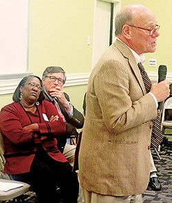 State Reps. Camper and Fitzhugh listen to U.S. Rep. Cohen - JB