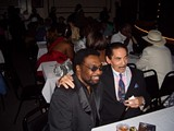 Stax artist William Bell and Hi Records producer Willie Mitchell at the old Daisy Thursday night.