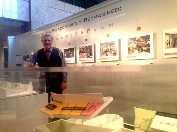 Steve Pike and the Pink Palace's master plan exhibit