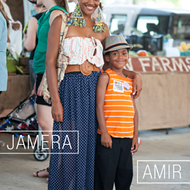 Street Style at Memphis Farmers Market — Musician/Mom Jamera and Son Amir