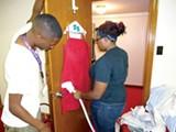 ROSHUNDA BUCHANAN - Students clean a garment at 2Unique.