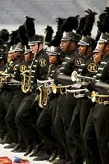 JUSTIN FOX BURKS - Students perfoming in the - 2013  Bandmasters - Championship at - Liberty Bowl Memorial Stadium