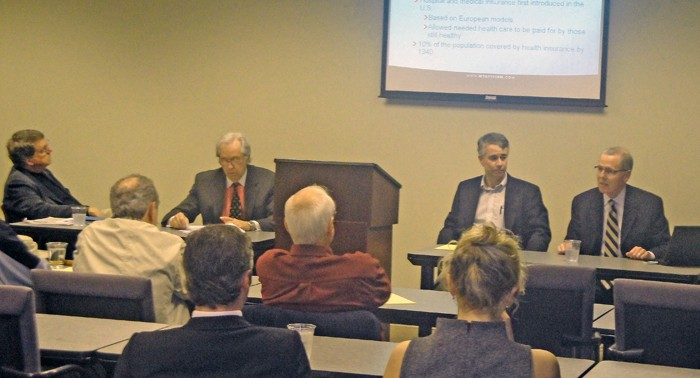 Sutherland, McGrew, Mulroy, and Key at health care forum - JB