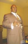 Thaddeus Matthews at recall meeting.