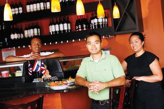 Thai Bistro owner Kimly Bun (center)