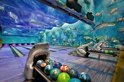 The 13-lane bowling alley inside Bass Pro Shops at the Pyramid. - BASS PRO SHOPS