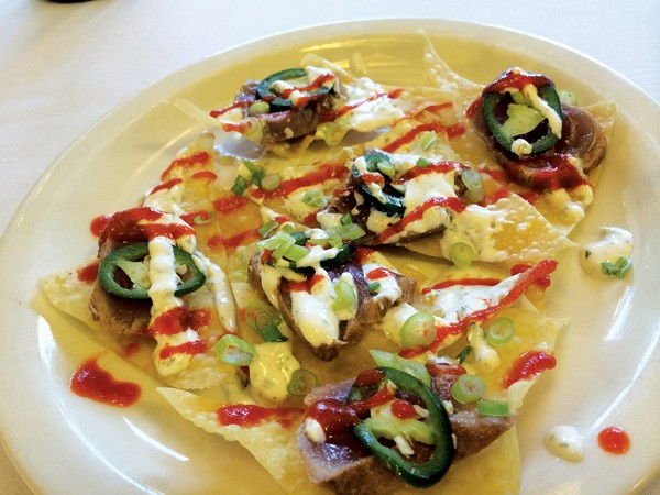 The Asian Nachos at Tsunami - STACEY GREENBERG