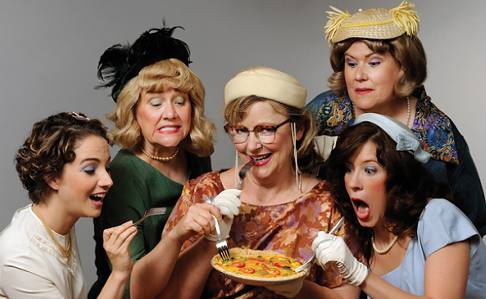 The cast of Five Lesbians Eating a Quiche at TheatreWorks