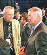 The Celtics' Heinsoghn and Grizzlies GM Jerry West looking glum Tuesday night.