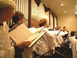 The choir at Church of the Holy Communion.