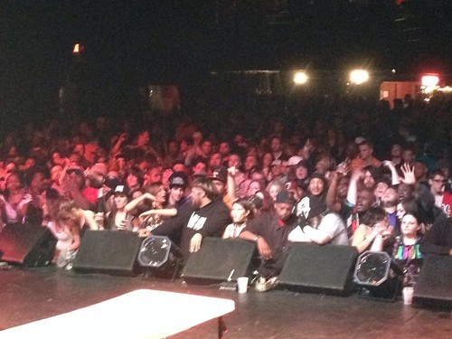 The crowd anxiously awaiting Da Mafia 6ix