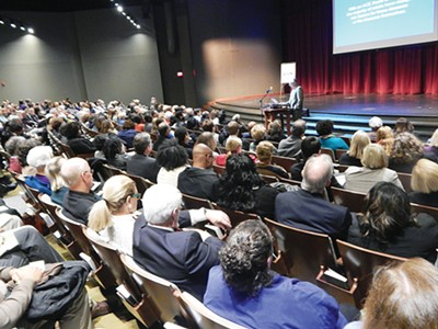 The crowd at last week's ACE Task Force public forum - LOUIS GOGGANS
