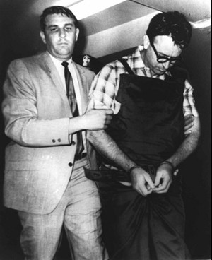 The famous picture, circa 1968,  of a newly arrested Ray in the custody of then Sheriff Bill Morris. What else might be on the newly discovered videos?