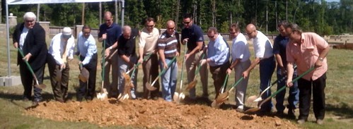 The ground-breaking for the 2009 VESTA Home Show