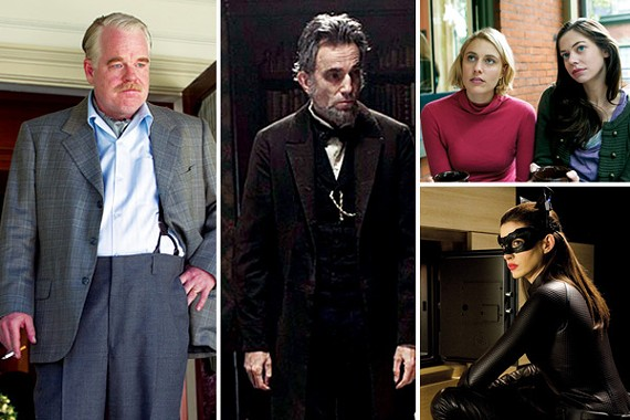 The Master, Lincoln, Damsels in Distress, The Dark Knight Rises