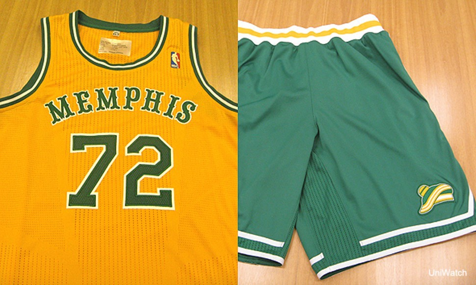 The Memphis Tams throwbacks the Grizzlies modeled last night.