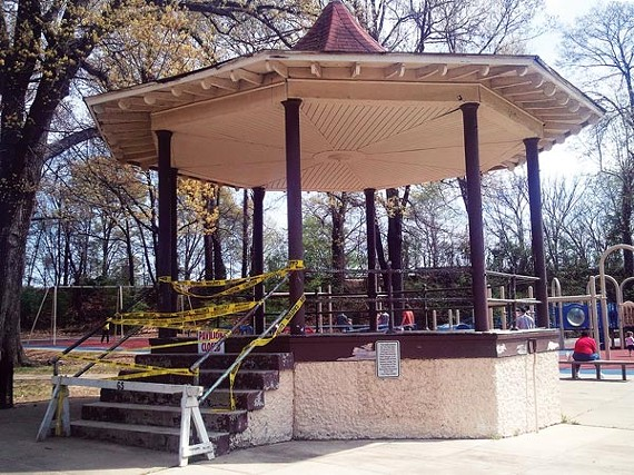 The Peabody pavilion has been closed for two months.