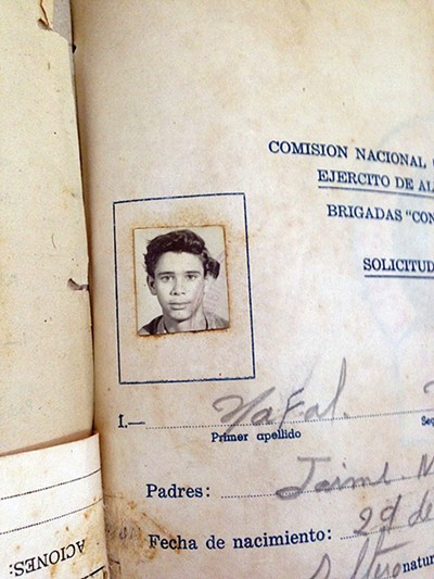 The photo of then 16-year-old Nafal Valdes, a former literacy - volunteer