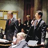 The scene inside the    Tennessee state Senate - JACKSON BAKER