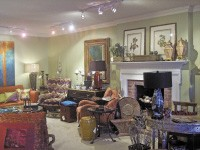 The showroom at Virginia Rippee & Associates gives the homeowner many smart design choices of furniture, art, and accessories.