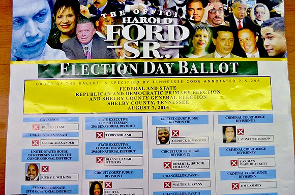 """The supposed """"Harold Ford Sr."""" ballot"""