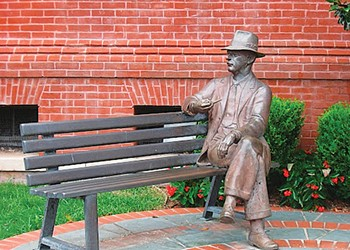 A Look Back at the Fight Between a Faulkner Statue and a Tree