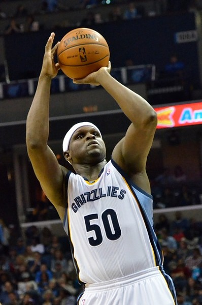 Z-Bo was one of five Griz players who sat out last night's game against the Thunder. - LARRY KUZNIEWSKI