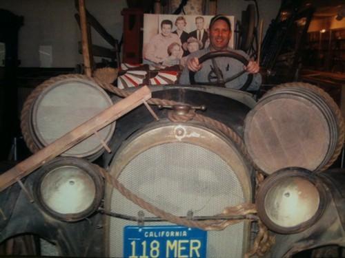 Tim Smith in the original Hillbillymobile.