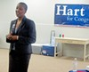 Tomeka Hart at headquarters opening
