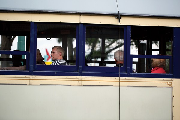 Trolley goers enjoying the ride - JUSINT FOX BURKS