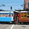 Trolleys Collide at Downtown Intersection