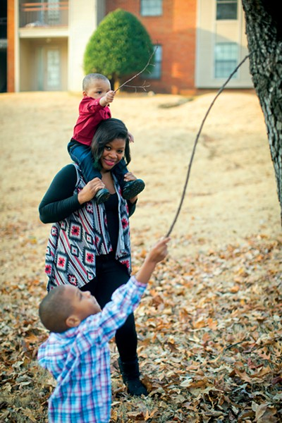 Troynesha Cleaves and sons - JUSTIN FOX BURKS