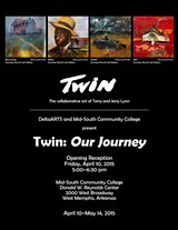 """DESIGN BY ALEX WADDELL SMITH - """"Twin: Our Journey,"""" the collaborative art of Jerry and Terry Lynn"""
