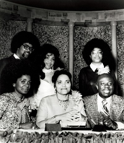 Back: Mr. & Mrs. Marvell Thomas, Vaneese Thomas; Front: Carla, Lorene, and Rufus Thomas - COURTESY OF STAX MUSEUM OF AMERICAN SOUL MUSIC