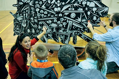 """""""Bringing artists into the equation"""" helps keep Memphis 3.0 planners thinking outside the box: Yancy Villa-Calvo, the artist behind GEMS (short for Go Explore Memphis Soul), works with Memphis youth to design a stylized map of the city."""