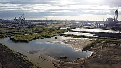 Coal ash pond at TVA 's Memphis plant