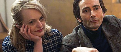 Mad to Be Normal, starring Elisabeth Moss (left) and David Tennant, is the closing night film.