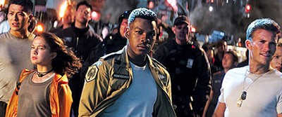 John Boyega (above) stars in Pacific Rim: Uprising as the war between humankind and giant monsters continues.