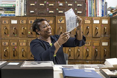 Roz Withers, caretaker of the archives - JUSTIN FOX BURKS