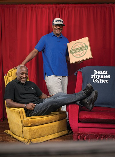 Howard Bell (left) and Anthony - Latiker of Slice of Soul Pizza Lounge