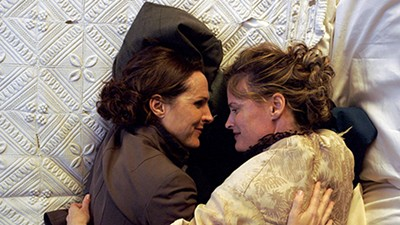 Wild Nights With Emily, starring Molly Shannon (left) and Amy Seimetz, plays opening night at Outflix.