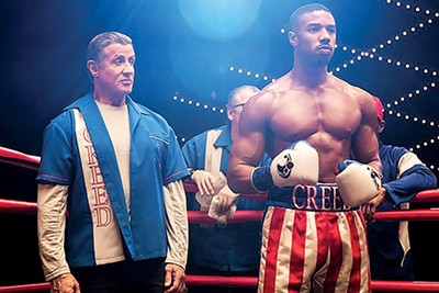 Sylvester Stallone (left) and Michael B. Jordan star in Creed II, the new Rocky movie.