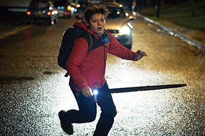 Louis Ashbourne Serkis (above) wields Excalibur in Joe Cornish's The Kid Who Would Be King.