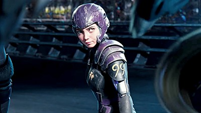 Rosa Salazar (above) stars at the eponymous antimatter-powered hero in Alita: Battle Angel.