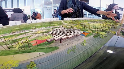 Trees, hills, & more in the - Tom Lee Park redesign. - TOBY SELLS