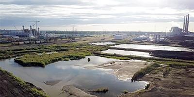 Coal ash ponds near TVA's Allen Fossil power plant