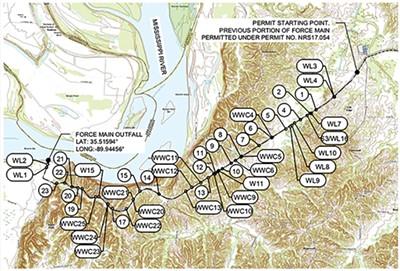 Plans for the proposed Memphis Regional Megasite pipeline